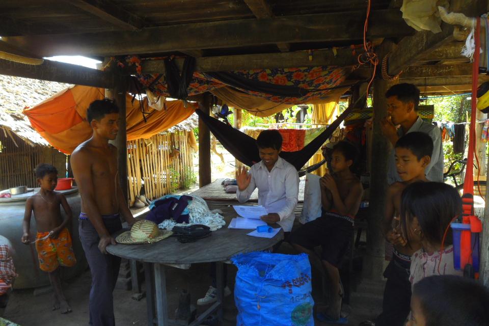 Кхмерская деревня договор насос