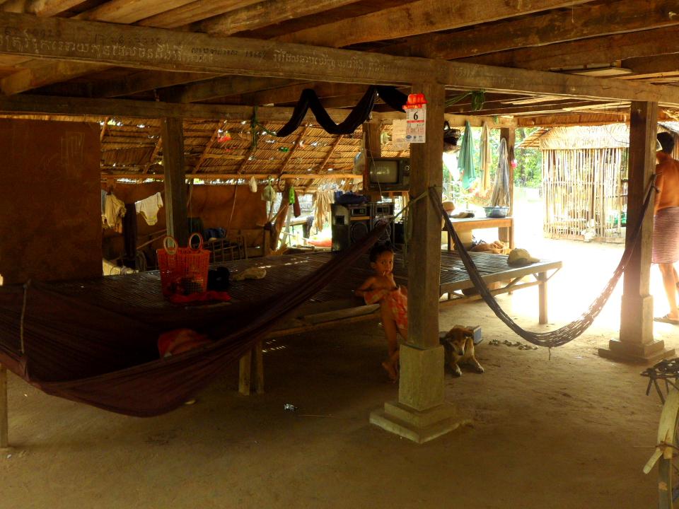 Кхмерская деревня дом