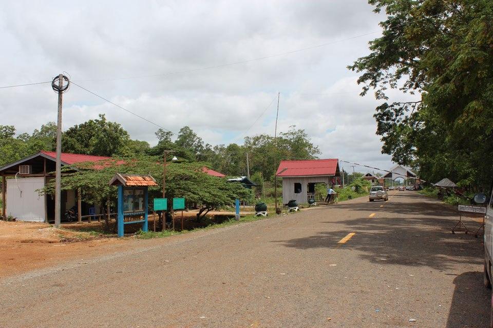 Пограничный переход Лаос - Камбоджа