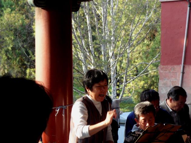 Китайцы поют. Храм Неба