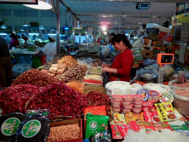 Рынок в пекинском хутуне