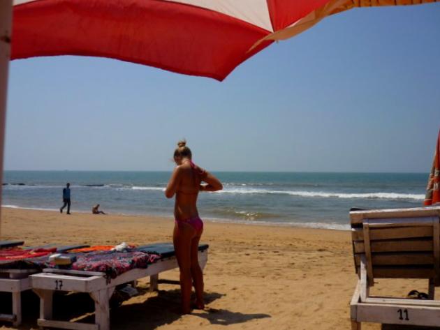 Развод туристов в Индии. Пляж Анджуна