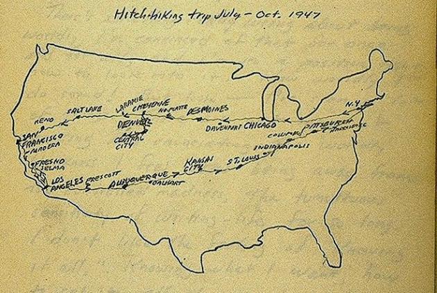 США с Запада на Восток кар