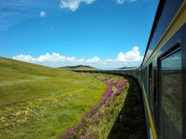 Транссибирская магистраль на поезде