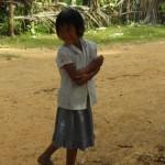 Кхмерская деревня камбоджийские дети