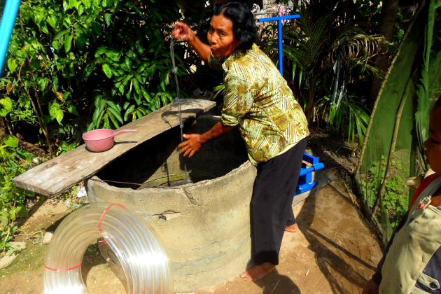 Насос для кхмерских крестьян