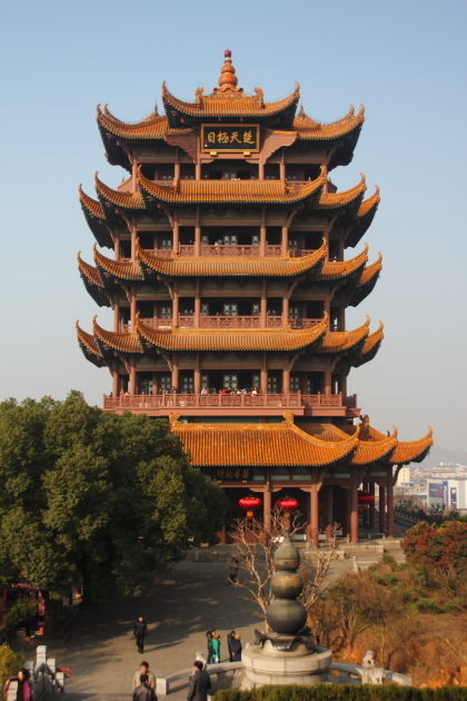 Жёлтая журавлинная башня (Yellow crane tower). Ухань