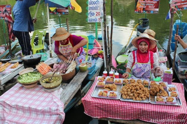 Плавучий рынок Khlong Hae , Хат Яй, Таиланд