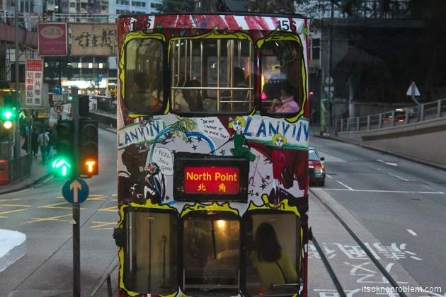 Двухэтажные трамваи в Гонконге. Трамвайчик