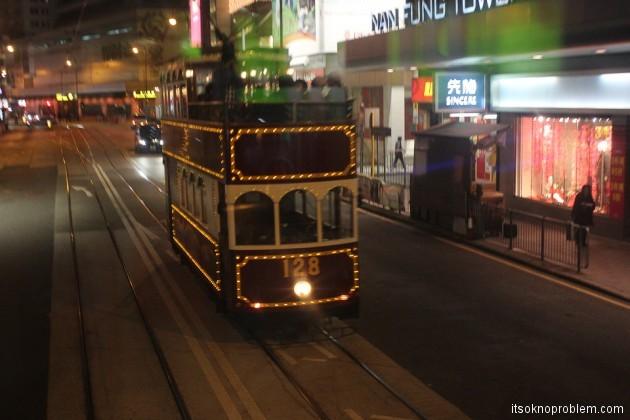 Двухэтажные трамваи в Гонконге. Парти трэм