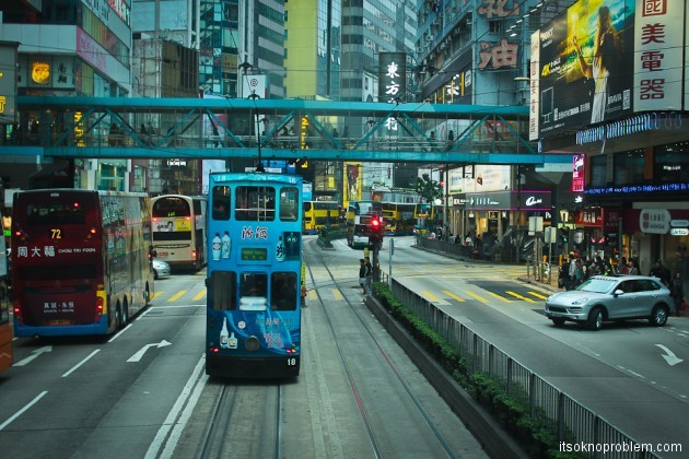 Двухэтажные трамваи в Гонконге. Самый дешёвый тур по городу
