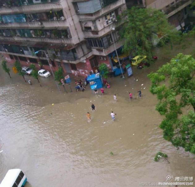 Последствия Усаги фото наводнение в Шаньтоу