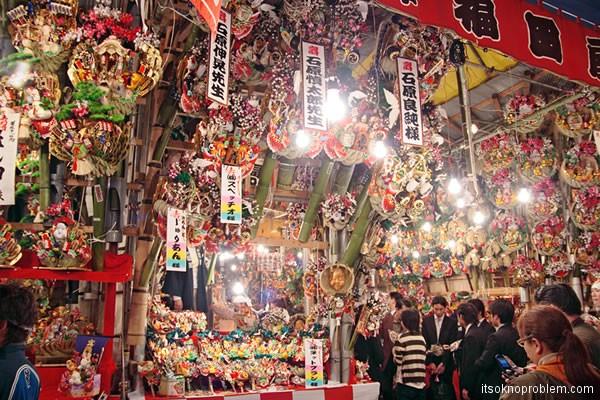 Tori no ichi - фестиваль удачи в токио. День петуха