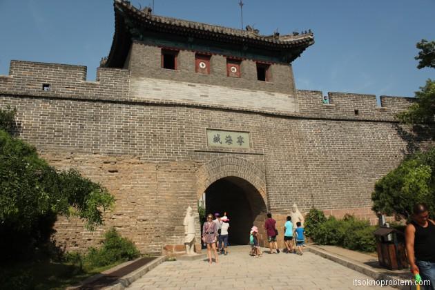 Великая Китайская Стена в Циньхуандао. Вход на стену