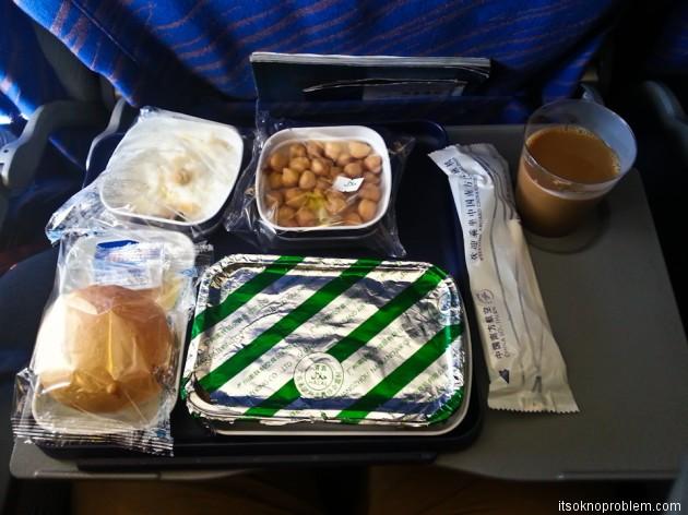 Из Гуанчжоу в Дели. Еда на борту China Southern