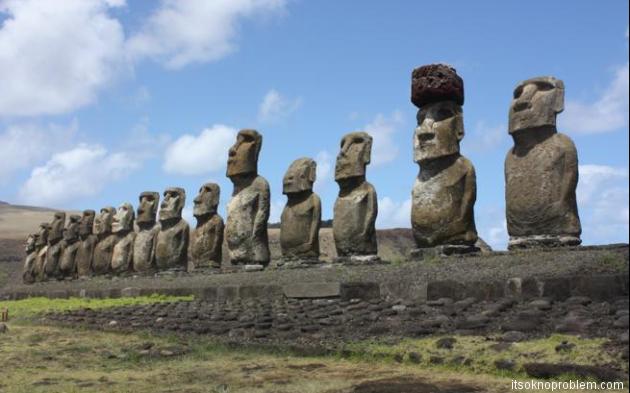 Остров Пасхи. Скульптуры моаи