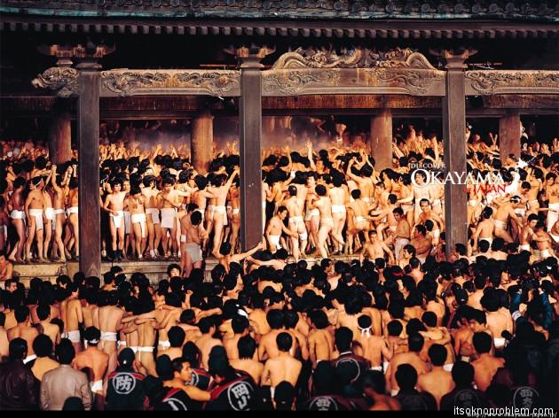 Голый фестиваль в Японии(Saidaiji Eyo - Naked Men's Festival)