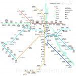 Дели карта метро. Аэропорт, Нью Дели
