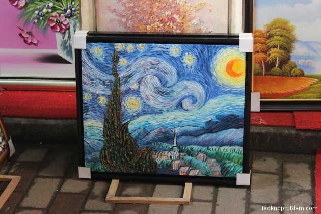 Деревня художников Дафэн - где купить картины в Китае