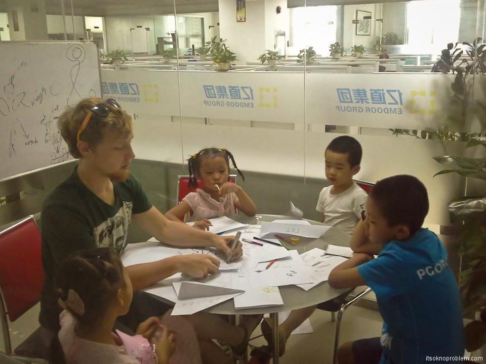 Работа в Китае. Найти подработку - обучение студентов английскому языку
