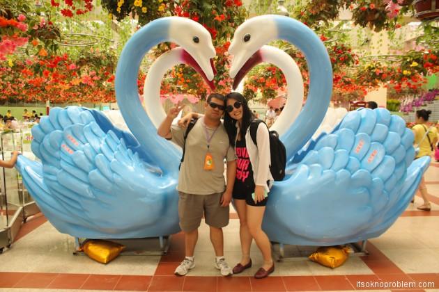 Свадьба в Китае. Свадебные фотосессии. Парк Bai Wan Kui Yuan