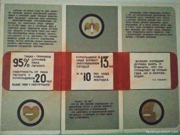 Советские плакаты против алкоголя и табака. Статистика по табаку