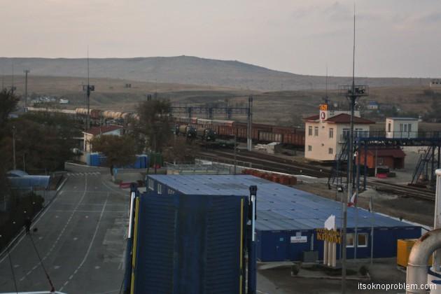 Из Крыма в Москву на поезде. Керченская переправа