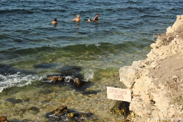 Херсонес Таврический. Пляж. Фото