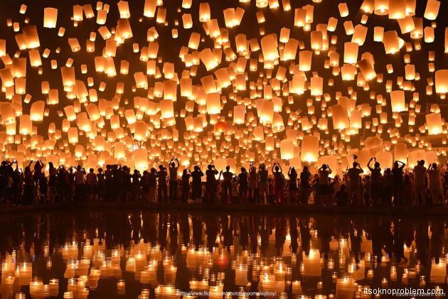 Фестиваль небесных фонариков в Pingxi Тайвань 01