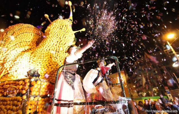 фестиваль лимонов в Ментоне Франция