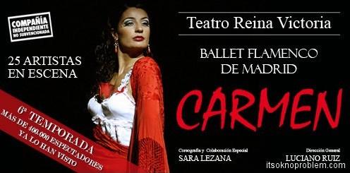 Где посмотреть танец фламенко в Испании. Постановка Кармен в Мадриде