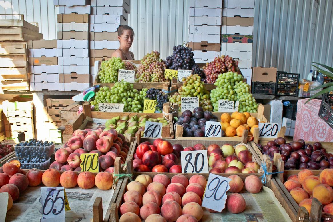 Сколько стоит жить в Крыму. Цены на фрукты летом