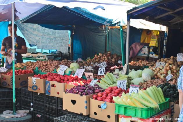 Сколько стоит жить в Крыму. Рынок летом. Цены на овощи