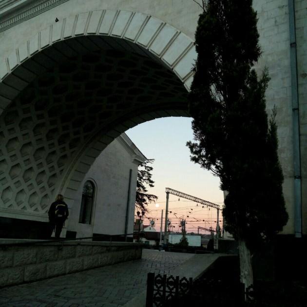 Вокзал Симферополь. Рассвет в арочке