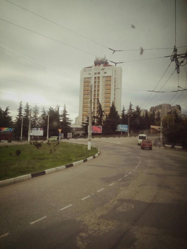 По дороге Симферополь - Ялта. Осень. Алушта