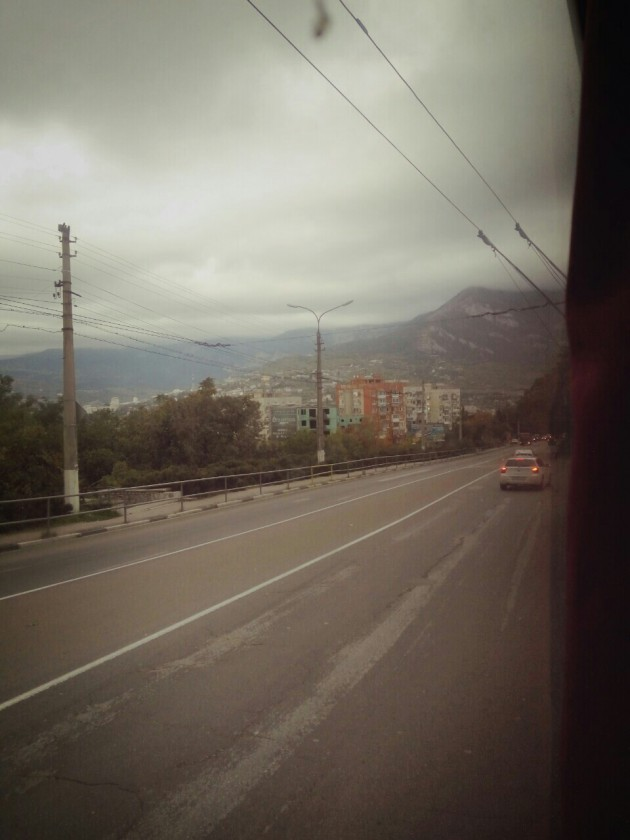 По дороге Симферополь - Ялта. Осень